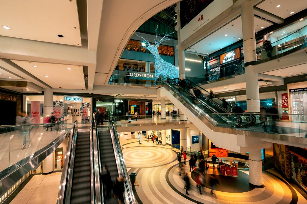 inside of a shopping mall